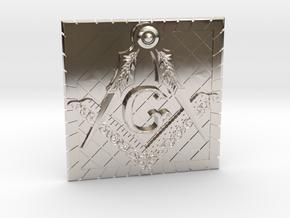 Masonic Belt Buckle in Platinum