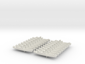 1/1200 LCI(L) (Round Bridge - Side Ramps) (x18) in White Natural Versatile Plastic