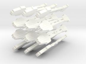 Norad Engines in White Processed Versatile Plastic
