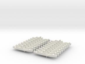 1/1200 LCI(L) (Round Bridge - Bow Ramps) (x18) in White Natural Versatile Plastic
