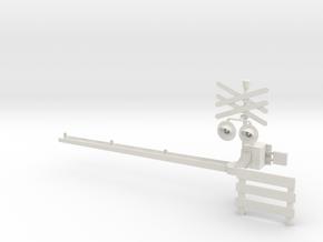 Spoorboom Nieuw H0 in White Strong & Flexible