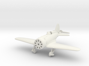 1/144 Polikarpov I-16, Wheels down in White Natural Versatile Plastic