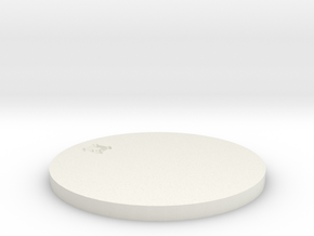 by kelecrea, engraved: ¤ in White Natural Versatile Plastic