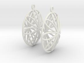 Double Viviani Earrings 2 in White Strong & Flexible