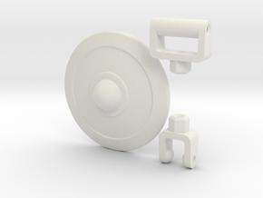 Buckler Shield Kit for ModiBot  in White Natural Versatile Plastic