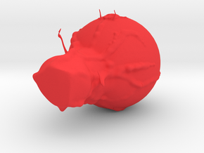 Blob monster in Red Processed Versatile Plastic