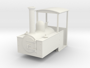 1:32 Decauville steam loco  in White Strong & Flexible