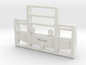 1/87 Scale Bull Bar in White Natural Versatile Plastic