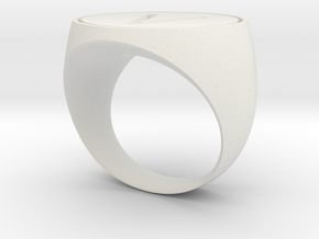 V Ring in White Natural Versatile Plastic