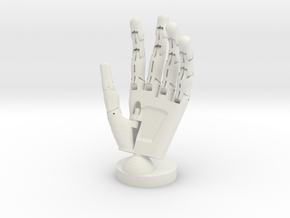 Cyborg open hand - Life Size in White Strong & Flexible
