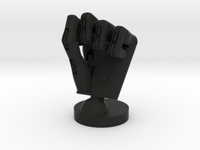 Cyborg hand posed fist small in Black Strong & Flexible