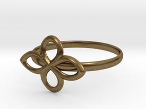 Flower Ring in Natural Bronze