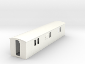 OO9 modern  brake luggage van in White Strong & Flexible Polished