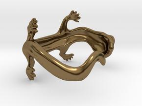 lizard bracelet in Polished Bronze