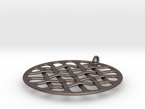 Woven 16 D in Polished Bronzed Silver Steel