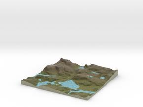 Terrafab generated model Sat Mar 29 2014 09:57:24  in Full Color Sandstone