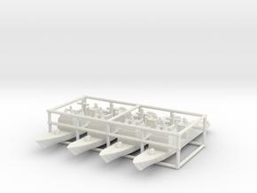 Ticonderoga class cruiser x4 (Axis & Allies) in White Natural Versatile Plastic
