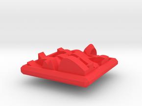 7 waves pendant in Red Processed Versatile Plastic