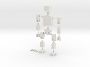 BlockGuy in White Natural Versatile Plastic