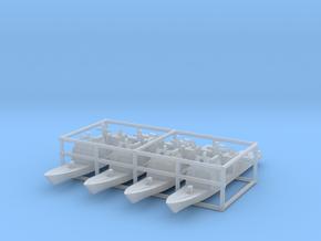 Ticonderoga class cruiser x4 1/4100 in Smooth Fine Detail Plastic