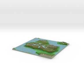 Terrafab generated model Sun Mar 30 2014 00:16:50  in Full Color Sandstone