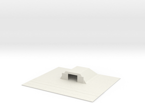 1/700 Small Concrete Hanger With Tarmac in White Natural Versatile Plastic