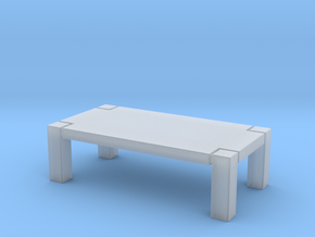 1:10 Scale Model - Table 01 in Smooth Fine Detail Plastic