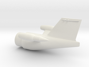 X305 Aircraft - Fuselage Rear in White Natural Versatile Plastic