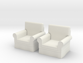 1:48 Modern Armchairs in White Natural Versatile Plastic