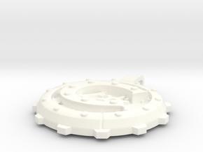 """Steampunk Monogram Pendant """"C"""" in White Processed Versatile Plastic"""