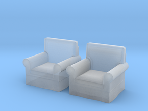 1:48 Modern Armchairs in Smooth Fine Detail Plastic