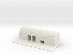 1/700 Mobile ICBM Storage Building With Tarmac in White Natural Versatile Plastic