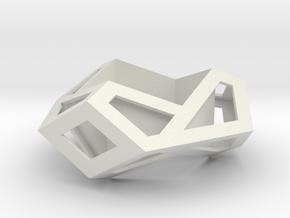 Hexagonal Torus Skeleton in White Natural Versatile Plastic