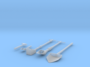 Moon Tools 1:6 Scale in Smooth Fine Detail Plastic