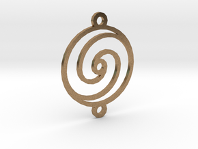 Spiral Pendant in Natural Brass