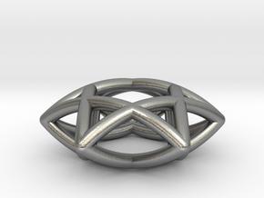 Star Of David Pendant in Natural Silver
