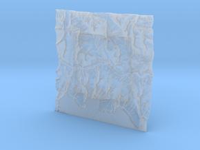 4'' Grand Canyon Terrain Model, Arizona, USA in Smooth Fine Detail Plastic