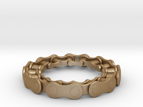 RS CHAIN RING SIZE 9 in Matte Gold Steel