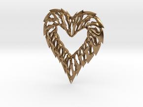 Rib Heart 02 in Natural Brass