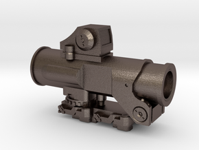 1:6 SCALE COMBAT SIGHT  in Polished Bronzed Silver Steel