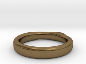 Guitar pick ring in Natural Bronze