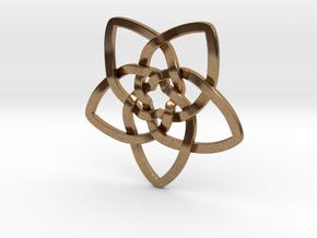 Venus flower pendant in Natural Brass