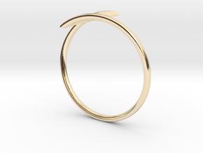"""Lightning Ring """"Blitz"""" in 14K Yellow Gold"""