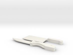 Kill Knife and Cleaver in White Natural Versatile Plastic