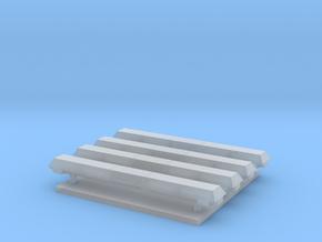 Lichtbak rechthoekig 4 stuks 24 mm met zijlichten in Smooth Fine Detail Plastic