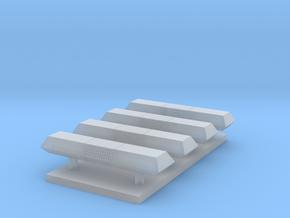 Lichtbalk rechthoekig 13,4 mm 4 stuks in Smooth Fine Detail Plastic