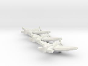 Junkers Ju 87E 1:900 (Triplet) in White Natural Versatile Plastic