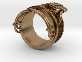 Steampower ring v2 in Natural Brass