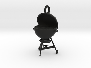 Summer Grillin' Keychain in Black Natural Versatile Plastic