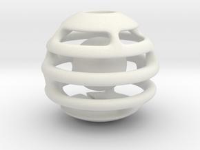 Bola H V1 IMP3D in White Natural Versatile Plastic